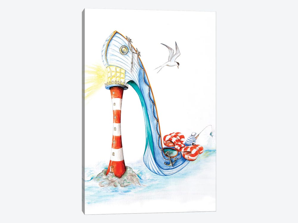 All At Sea by Sally King Design 1-piece Canvas Art Print