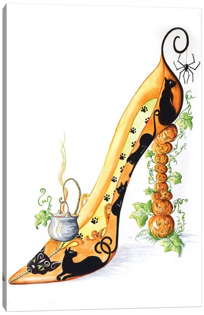 Halloween Shoe Canvas Art Print