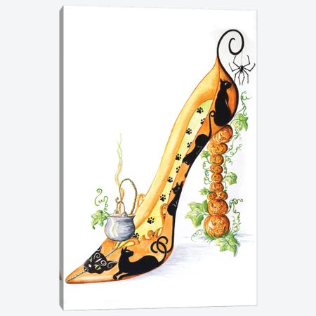 Halloween Shoe Canvas Print #SKG32} by Sally King Design Canvas Artwork