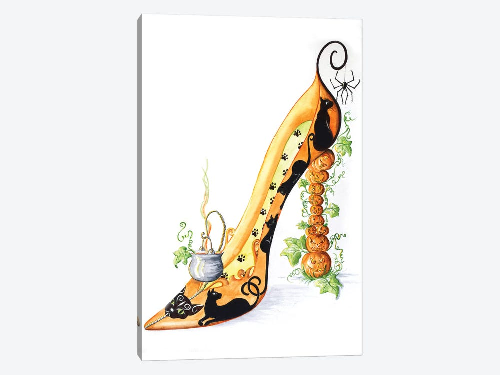 Halloween Shoe by Sally King Design 1-piece Canvas Print