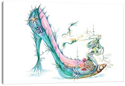 Mermaid Slipper Canvas Art Print