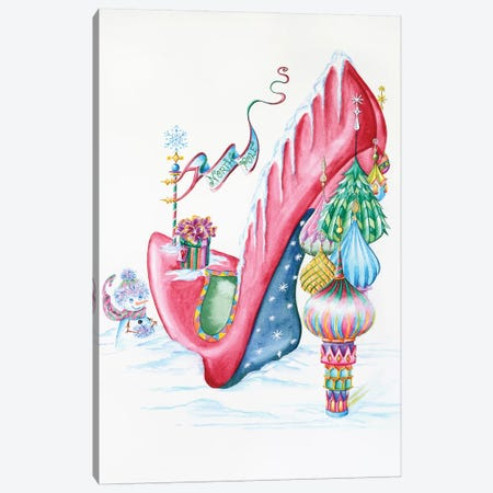 North Pole Canvas Print #SKG43} by Sally King Design Canvas Print