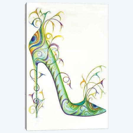 Peacock Canvas Print #SKG45} by Sally King Design Canvas Artwork