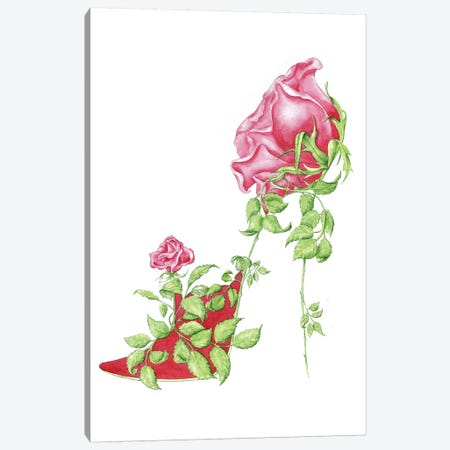 Rose Red Canvas Print #SKG48} by Sally King Design Canvas Art Print