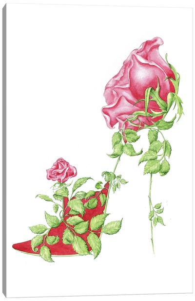 Rose Red Canvas Art Print