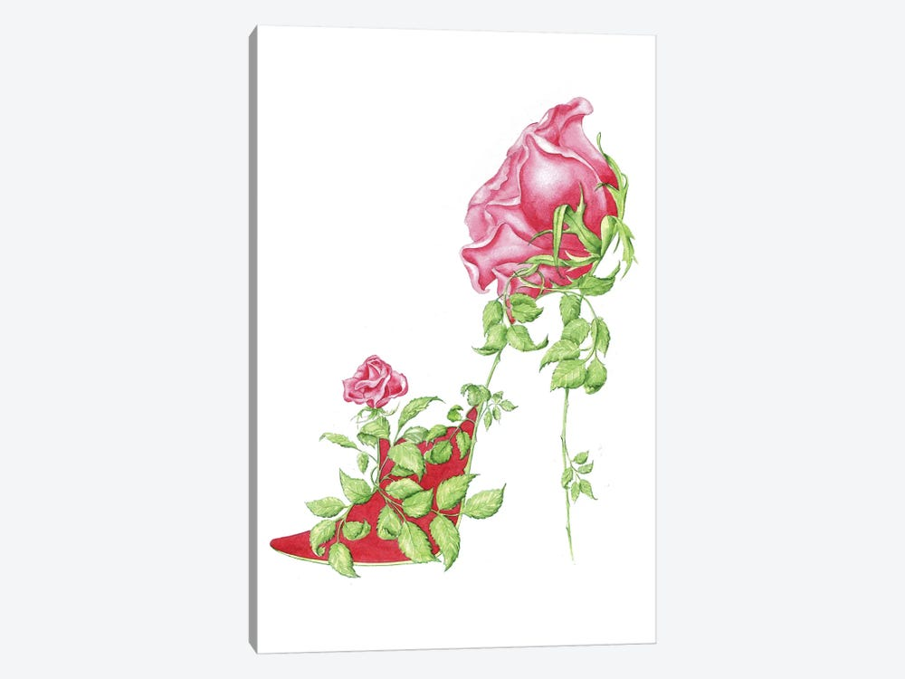 Rose Red by Sally King Design 1-piece Canvas Artwork