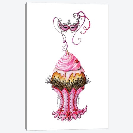 Carnival Cupcake Canvas Print #SKG61} by Sally King Design Canvas Art Print