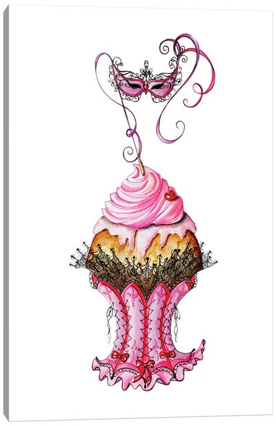 Carnival Cupcake Canvas Art Print
