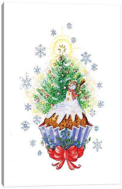 Christmas Cake Canvas Art Print