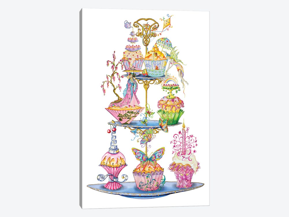 Tea Time by Sally King Design 1-piece Canvas Print