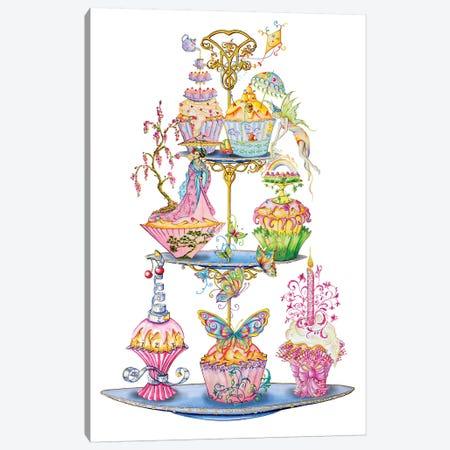 Tea Time Canvas Print #SKG72} by Sally King Design Canvas Wall Art