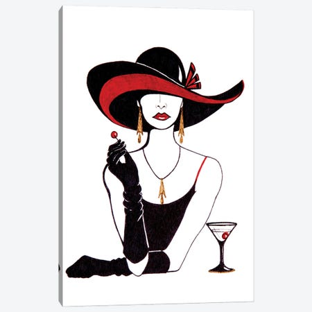 Cocktail Canvas Print #SKG77} by Sally King Design Canvas Print