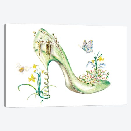 Spring 3-Piece Canvas #SKG7} by Sally King Design Art Print