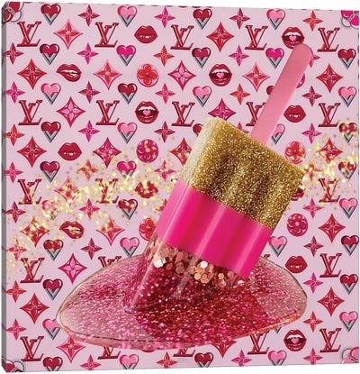 LV Love Popsicle Canvas Art Print