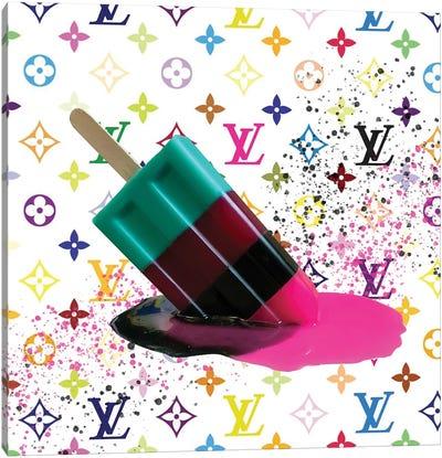 LV Multicolor Popsicle Canvas Art Print