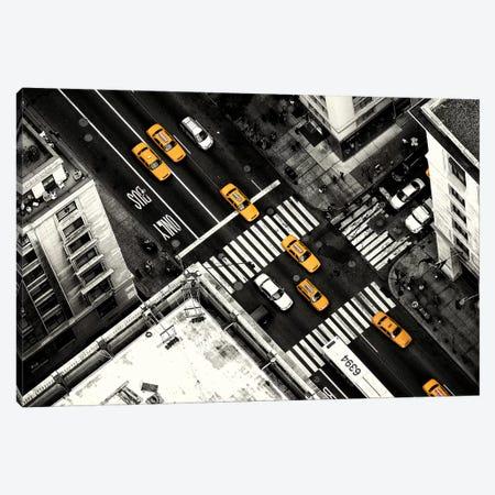 Yellow Flow Canvas Print #SKL1} by Stefan Klören Art Print