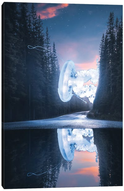 Glowing Out Of Ocean Canvas Art Print