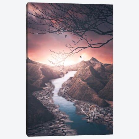 Tale Of The Water Canvas Print #SKM30} by Shubham Kumar Rana Canvas Artwork