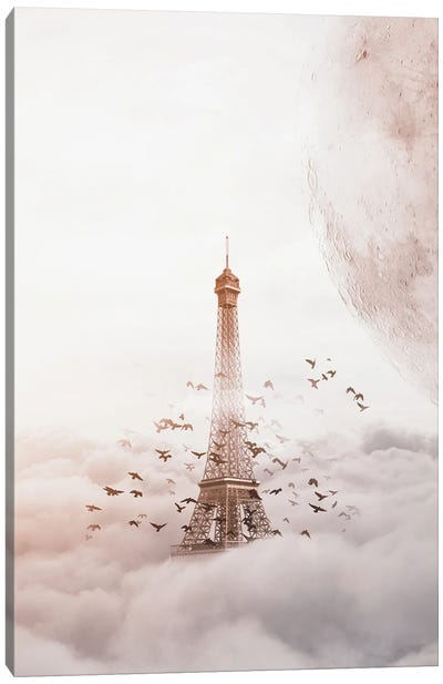 Eiffel Of Clouds Canvas Art Print