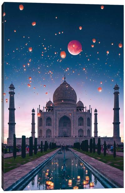 Blood Moon Taj Canvas Art Print