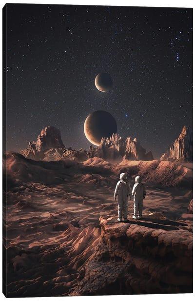 Love On Mars Canvas Art Print