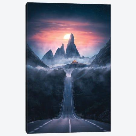 Road To The Dawn Canvas Print #SKM7} by Shubham Kumar Rana Canvas Art Print