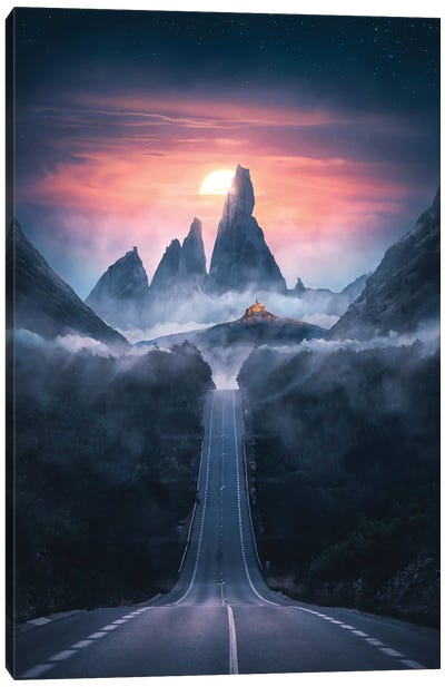 Road To The Dawn Canvas Art Print