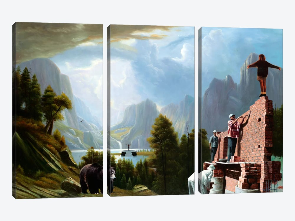 Drastic Visions by Shay Kun 3-piece Canvas Art Print