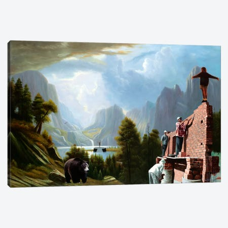 Drastic Visions Canvas Print #SKN14} by Shay Kun Canvas Art