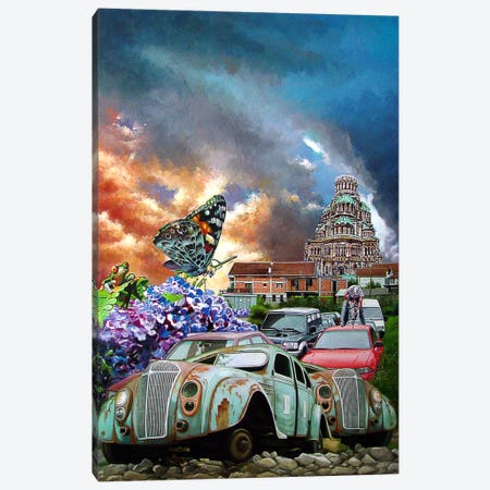 Postcards From The Edge I Canvas Print #SKN16} by Shay Kun Canvas Artwork