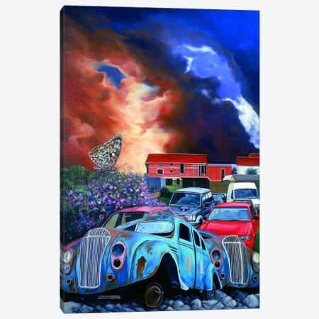 Postcards From The Edge II Canvas Print #SKN17} by Shay Kun Canvas Wall Art