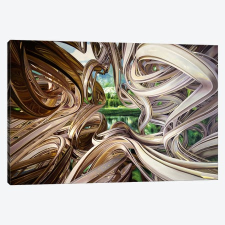 Trouble in Paradise Canvas Print #SKN18} by Shay Kun Art Print