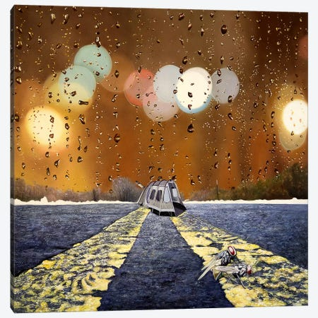 Groundhog Day Canvas Print #SKN29} by Shay Kun Canvas Art