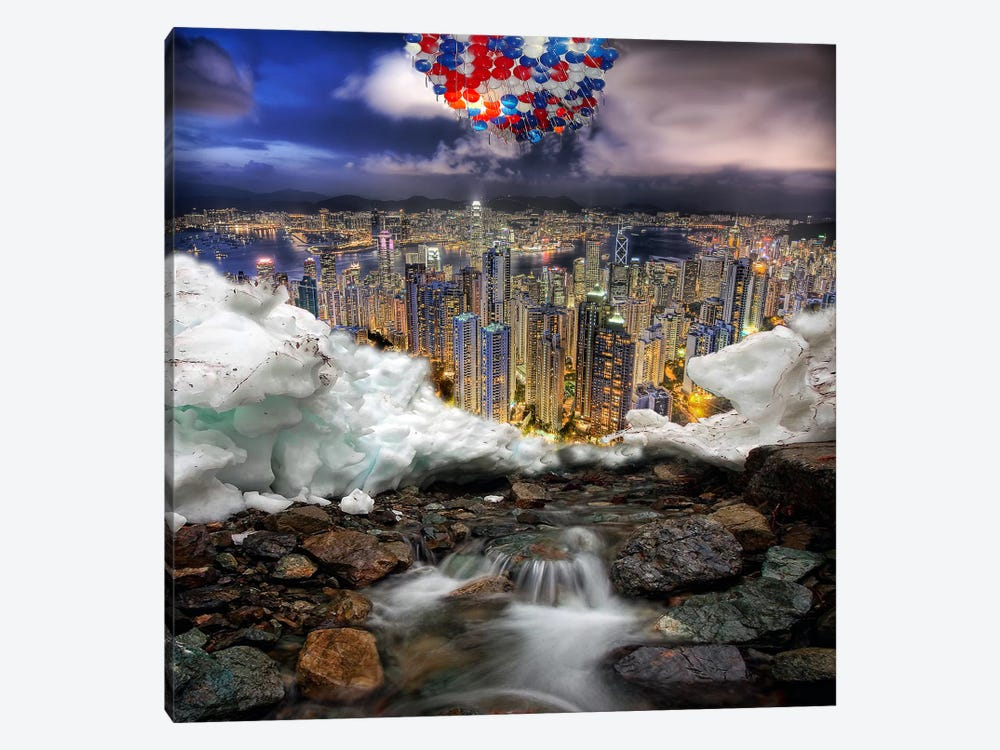 Outburst by Shay Kun 1-piece Canvas Print
