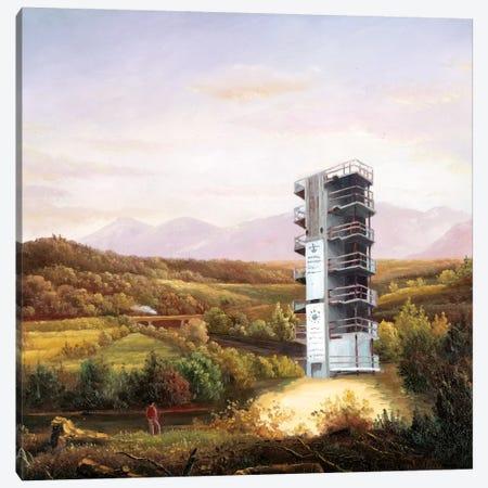 Eruption Canvas Print #SKN43} by Shay Kun Canvas Wall Art
