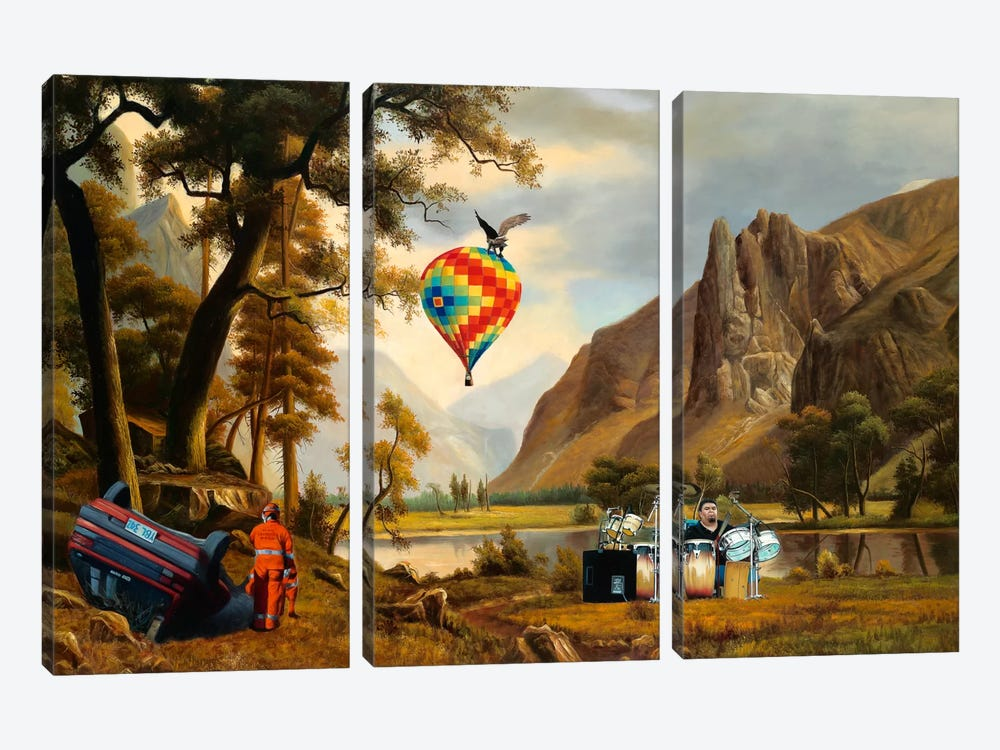 The Reuion by Shay Kun 3-piece Canvas Artwork