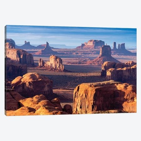 Hunts Mesa Navajo Tribal Park Sunrise I Canvas Print #SKR100} by Susanne Kremer Canvas Art