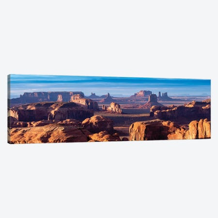 Hunts Mesa Navajo Tribal Park Sunrise II Canvas Print #SKR101} by Susanne Kremer Canvas Wall Art