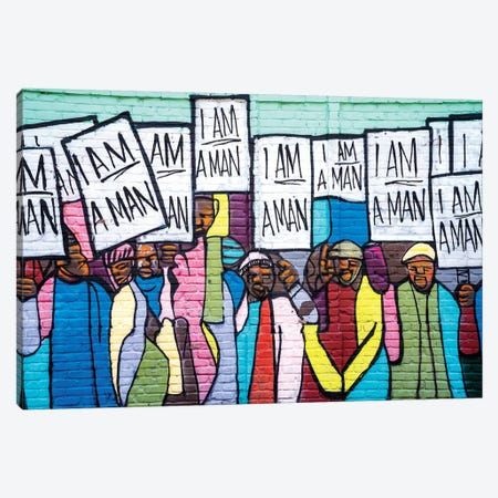 I Am A Man Graffiti  Canvas Print #SKR103} by Susanne Kremer Canvas Art