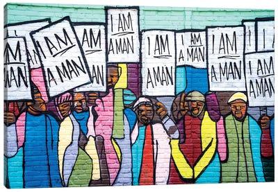 I Am A Man Graffiti  Canvas Art Print