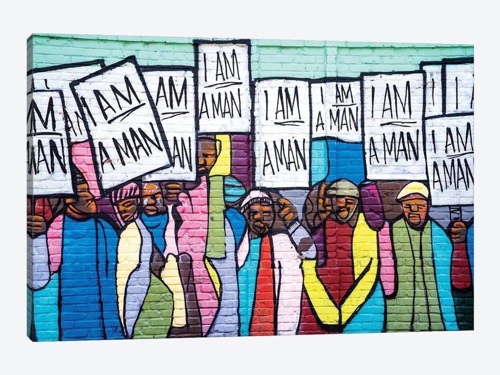 I Am A Man Graffiti  by Susanne Kremer 1-piece Art Print