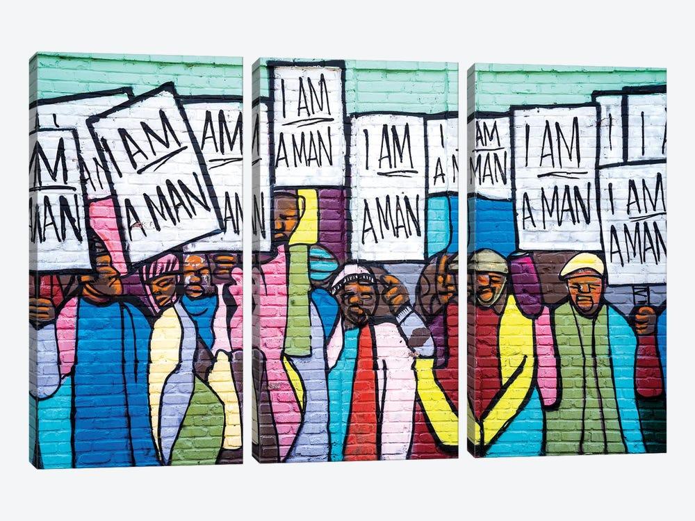 I Am A Man Graffiti  by Susanne Kremer 3-piece Art Print