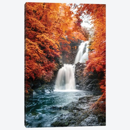 Isle of Skye Waterfall Ulg II Canvas Print #SKR106} by Susanne Kremer Canvas Print