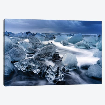 Jokulsarlon Glacier Lagoon I Canvas Print #SKR108} by Susanne Kremer Canvas Wall Art