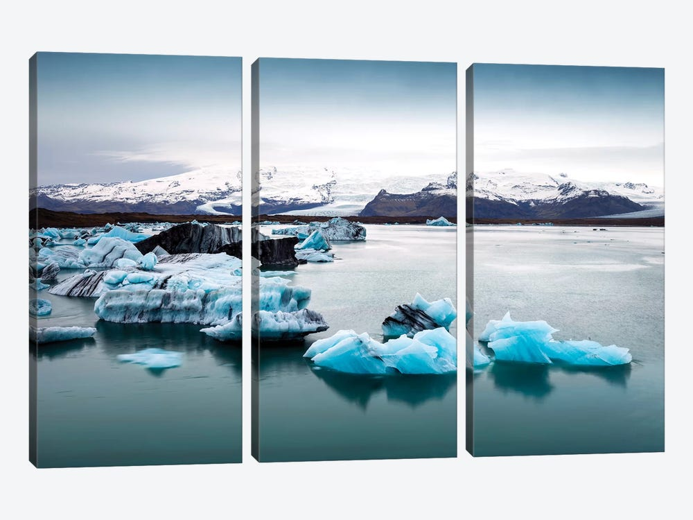 Jokulsarlon Glacier Lagoon II   by Susanne Kremer 3-piece Canvas Art Print