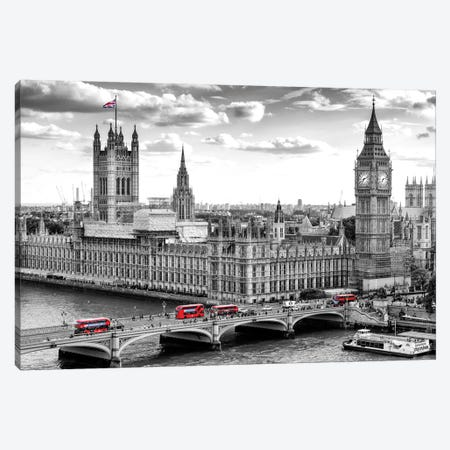 Big Ben and Palace of Westminster I Canvas Print #SKR10} by Susanne Kremer Art Print