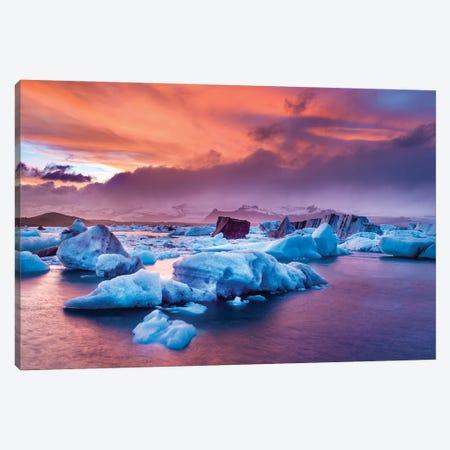 Jokulsarlon Glacier Lagoon III Canvas Print #SKR110} by Susanne Kremer Canvas Art Print