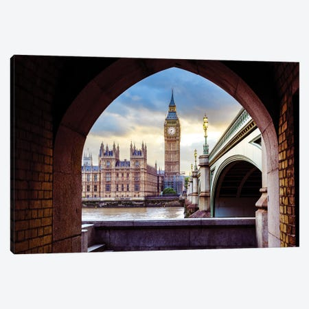 Big Ben and Palace of Westminster II Canvas Print #SKR11} by Susanne Kremer Art Print