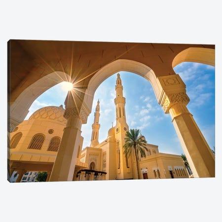 Jumeirah Mosque  Canvas Print #SKR121} by Susanne Kremer Canvas Art