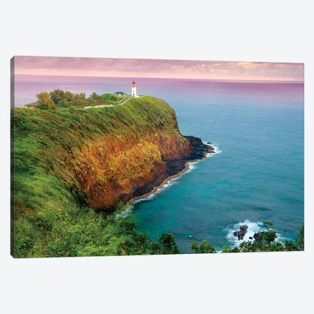 Kilauea Lighthouse  Canvas Print #SKR122} by Susanne Kremer Canvas Wall Art